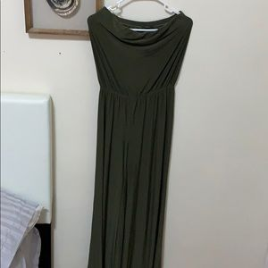 Loose fitting green jumpsuit